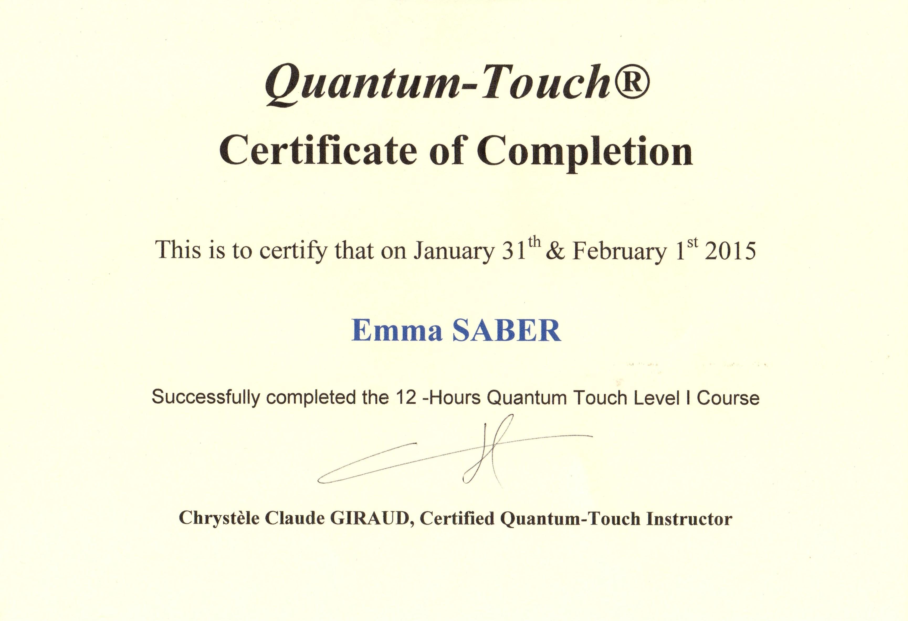 certificat-quantum-touch
