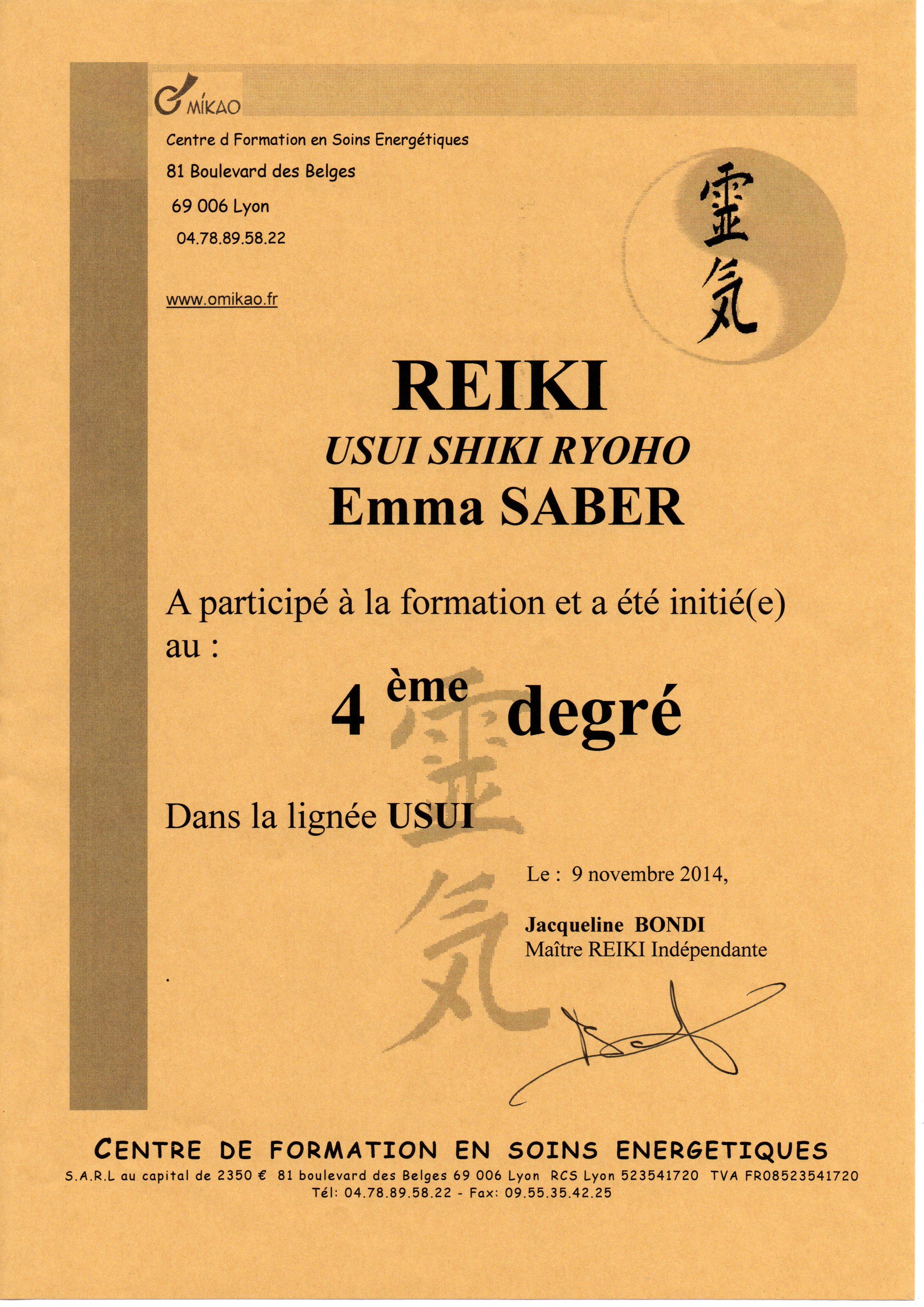 certificat-quatrieme-degre-reiki